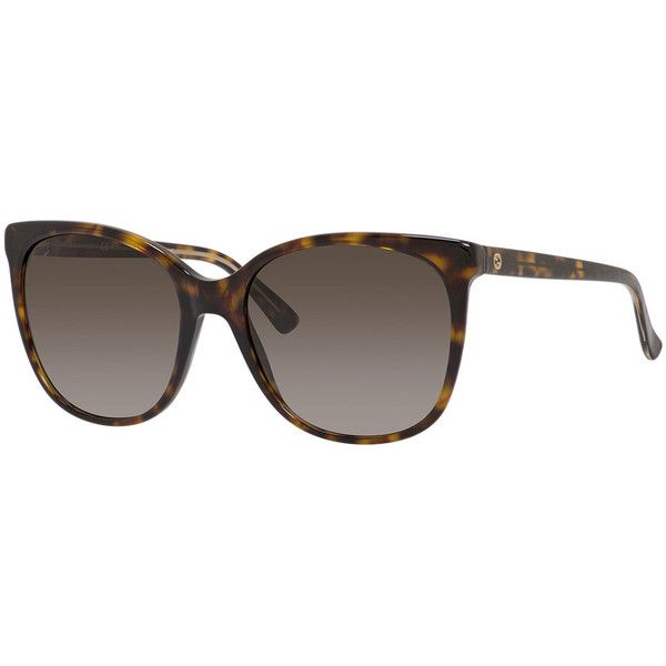 da08e8ca9d710 Gucci Gradient Squared Cat-Eye Sunglasses ( 185) ❤ liked on Polyvore  featuring accessories