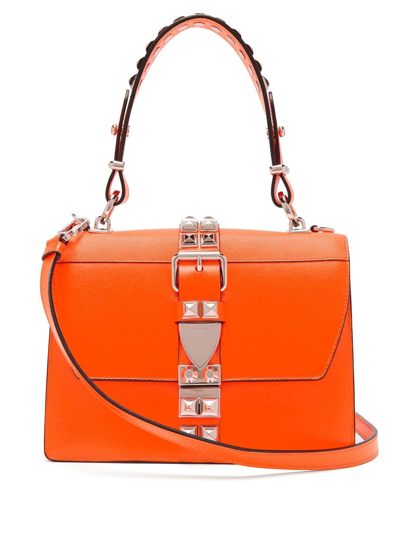 16abeb347868 EXCLUSIVE PRADA Elektra studded leather shoulder bag £1
