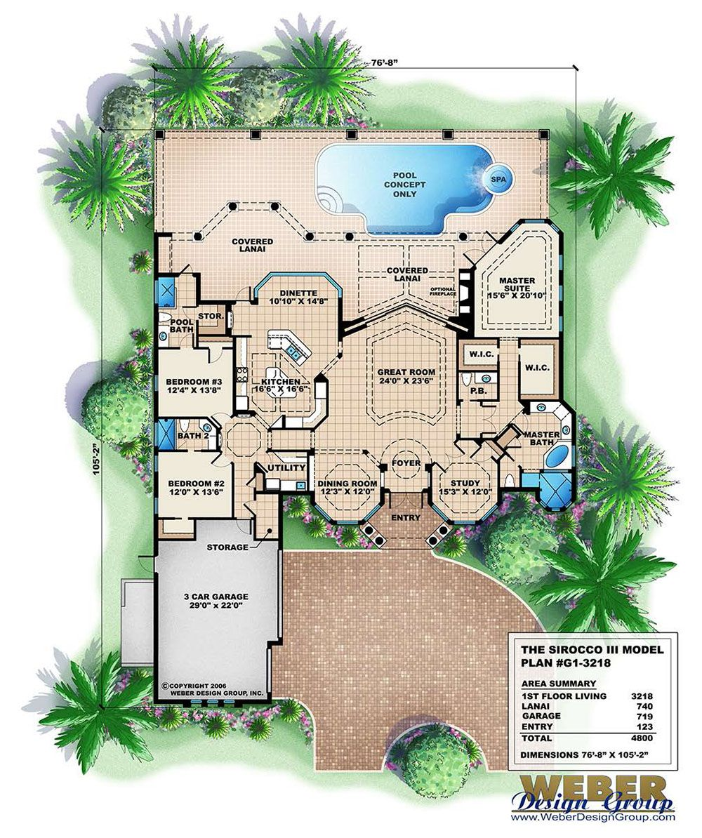 Mediterranean House Plan Story Luxury Coastal Home Floor Plan in