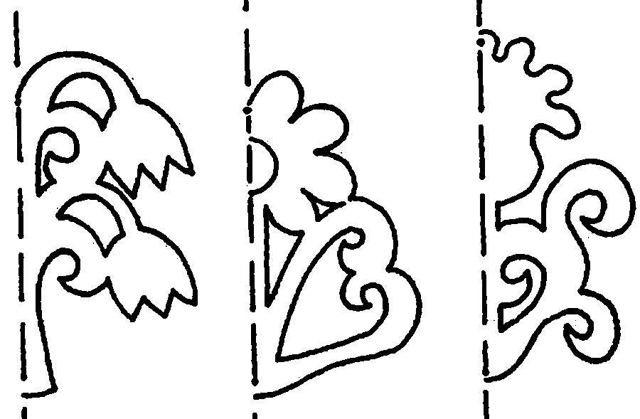 Раскраски узоры трафарет трафарет узоры, цветы ...