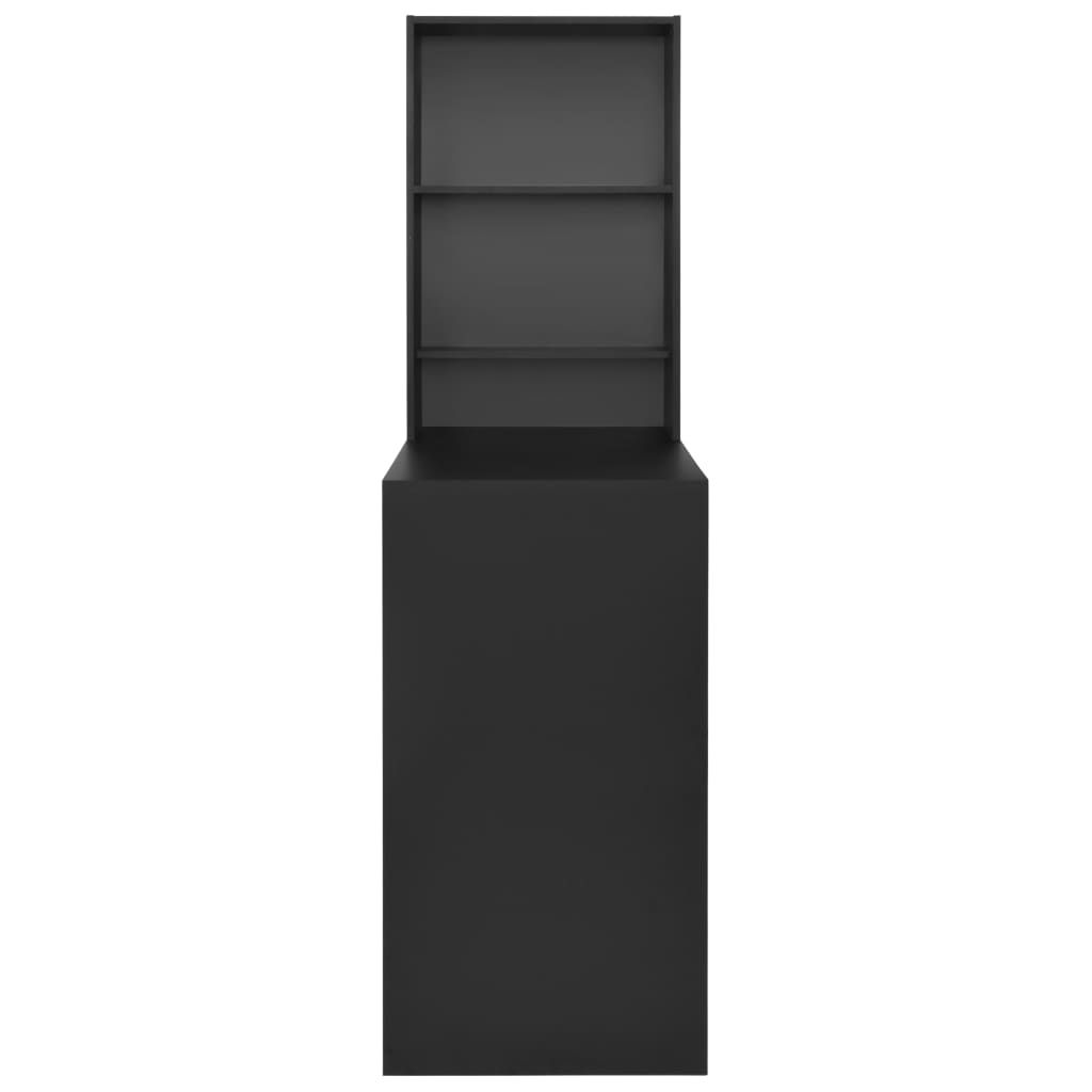 Photo of vidaXL Bar Table with Cabinet Black 115x59x200 cm