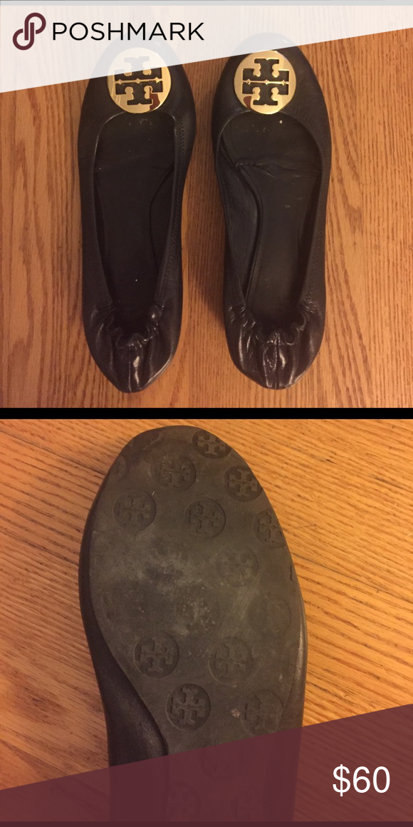6a38c1284b9 Tory Burch Reva ballet flat size 12 Gently used Tory Burch Reva ballet  flats. Size 12. Black leather. Tory Burch Shoes Flats   Loafers