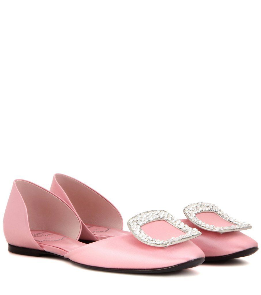 Cheap Get Authentic Chips embellished satin ballerinas Roger Vivier Best Seller For Sale Cheap Sale Pay With Visa nTtM6