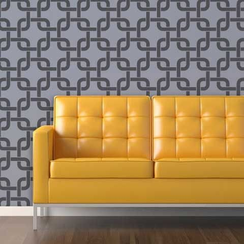 Linked In Wall Stencil | Wall stenciling, Stenciling and Studio