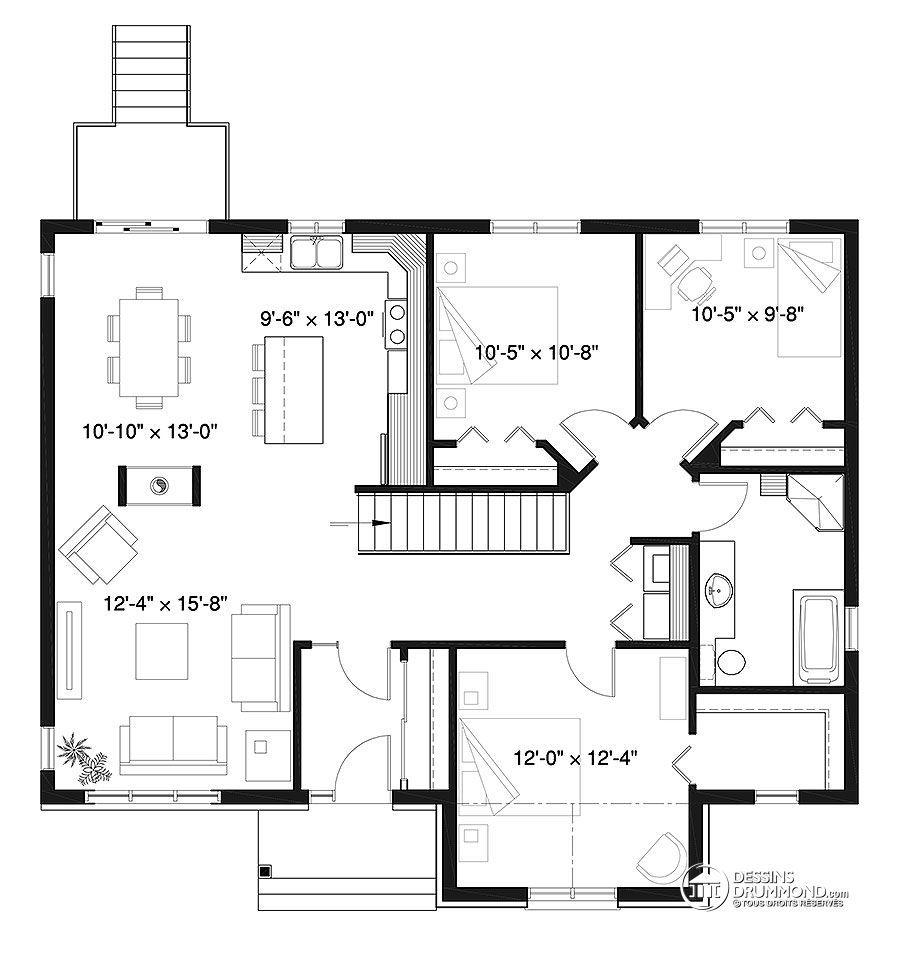 3 bedroom loft house  Détail du plan de Maison unifamiliale W  Projet plans