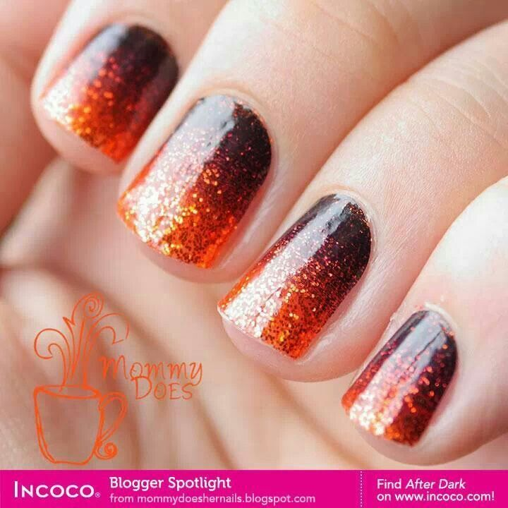 Ombre Nails For Halloween Ombre Halloween Nail Art With Glitter Nail Polish Halloween Nails Ombre Nails Nails