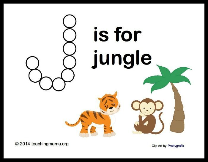 Free Printable Jungle Alphabet Letters