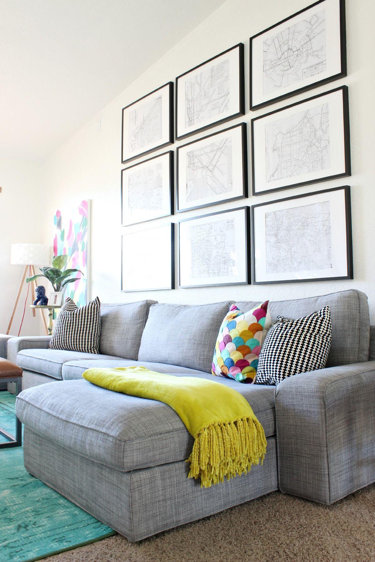 Living Room Updates and Aqua Antlers | Pinterest | Framed maps ...
