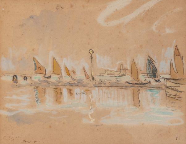 Paul SIGNAC (1863-1935)  Venise  Aquarelle  Signé en bas à gauche, situé et  daté Venise « 1904 » annoté « 33 »  en bas à droite  20 x 25 cm...