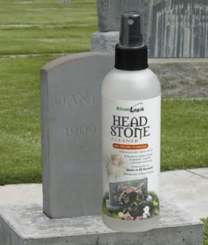 how to clean white marble headstone