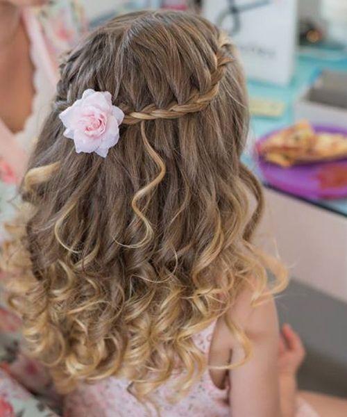 Flower Girl Wedding Hairstyles: 10 Best Wavy Hairstyles 2018 For Little Flower Girls