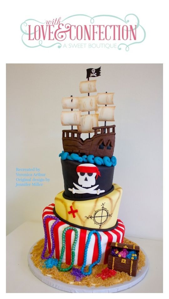 Pirate Cake Cakes and Cupcakes for Kids birthday party Pinterest