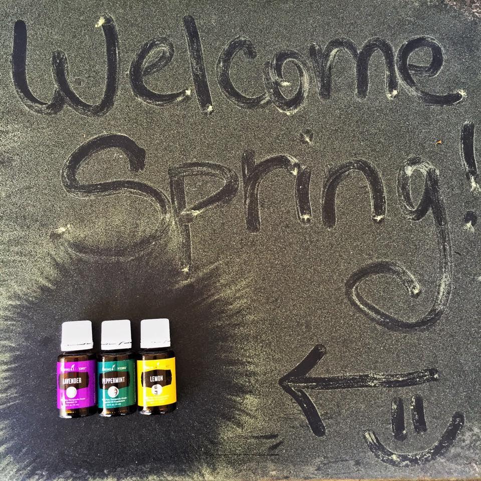 Springtime essential oil trio