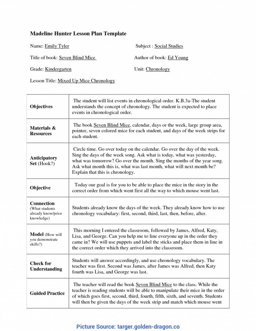 The Exciting Unusual Madeline Hunter Lesson Plan Template Ideas Microsoft In Madeline Hu Madeline Hunter Lesson Plan Lesson Plan Examples Lesson Plan Templates
