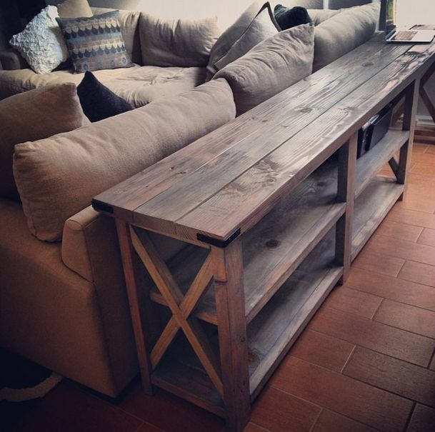 Diy Sofa Table This Is An Ana White Design It Could Work Out Well If Was Modified As A Long Narrow Counter In The Bat