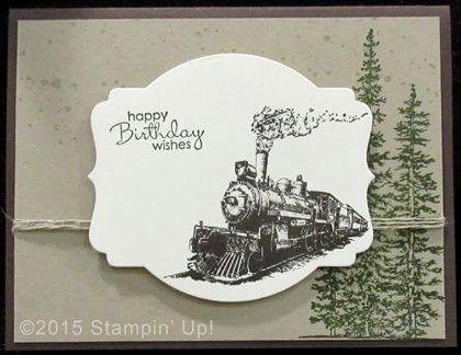 Stampin' Up! Birthday Cards - Traveler, Wonderland, Gorgeous Grunge and Petite Pairs stamp sets, Deco Labels Collection Framelits Dies
