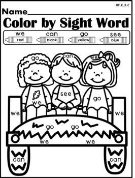 NO PREP Fall Kindergarten Lang. Arts Pack-Common Core