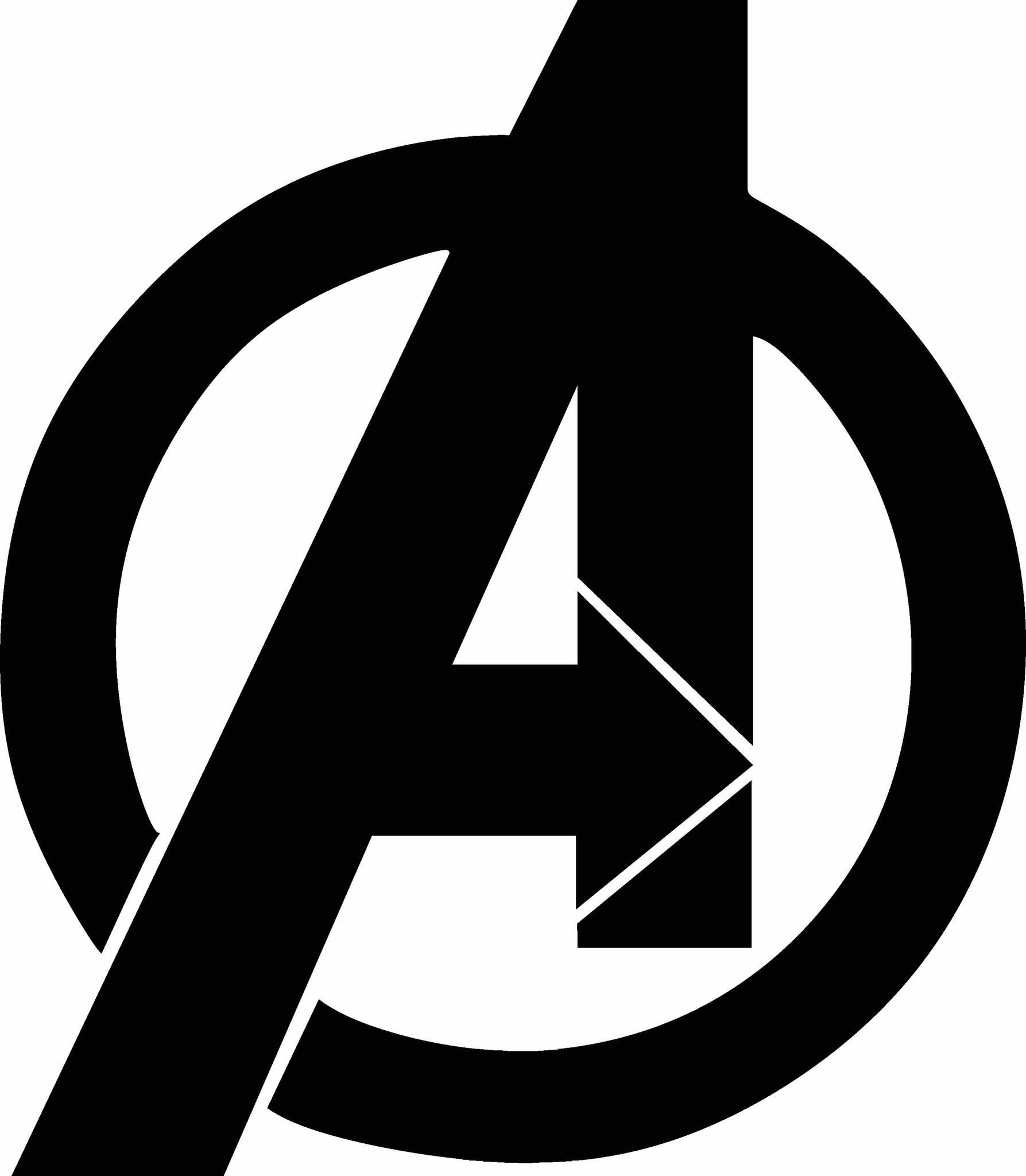 logo vinyl decal graphic - choose your color and size - Avengers Logo Coloring Pages