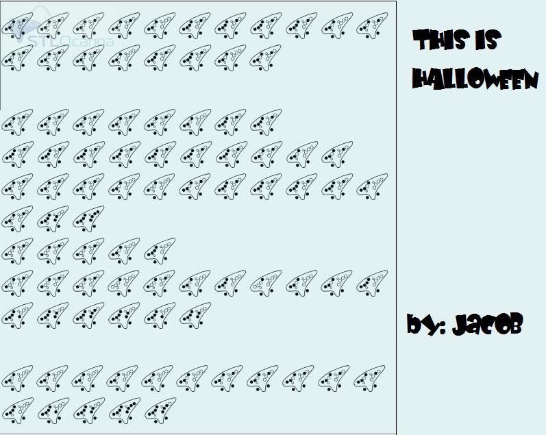 this is halloween 12 hole ocarina - Halloween Theme Song Guitar