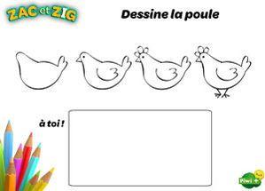 Dessine la poule dessiner pinterest - Poule a dessiner ...