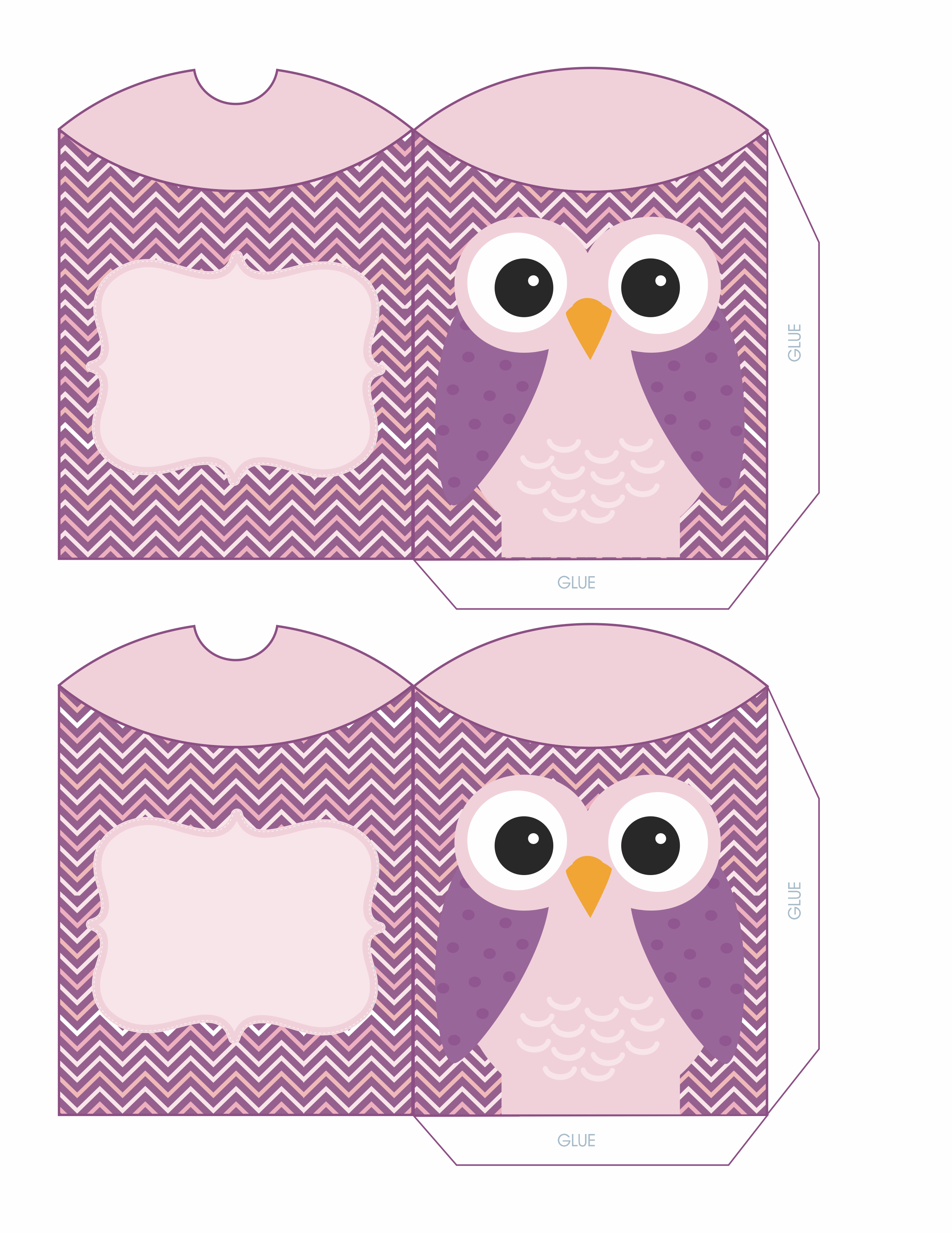 purple owl boxes envelopes pinterest owl box owl and box