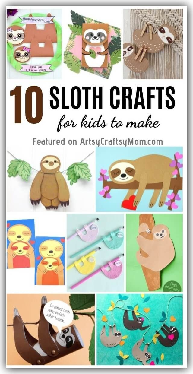 10 Super Cute Sloth Crafts for Kids | Crafts for International Sloth Day
