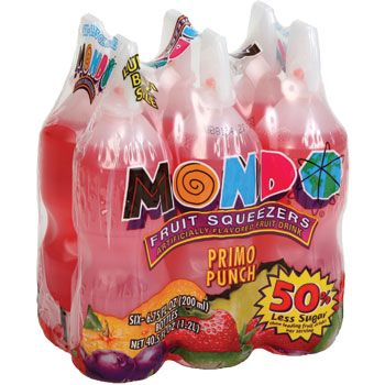 Bulk Mondo Fruit Squeezers, Primo Punch, 6-ct. Packs at DollarTree.com