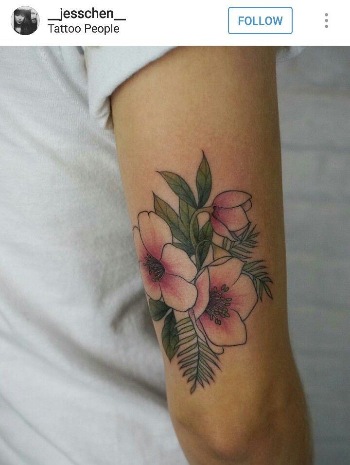 Pink flower with white ink floral tattoo idea lower tricep ink pink flower with white ink floral tattoo idea lower tricep mightylinksfo