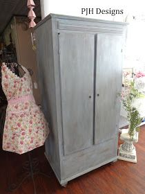 PJH Designs Hand Painted Antique Furniture: A Cedar Armoire/Cabinet Redo
