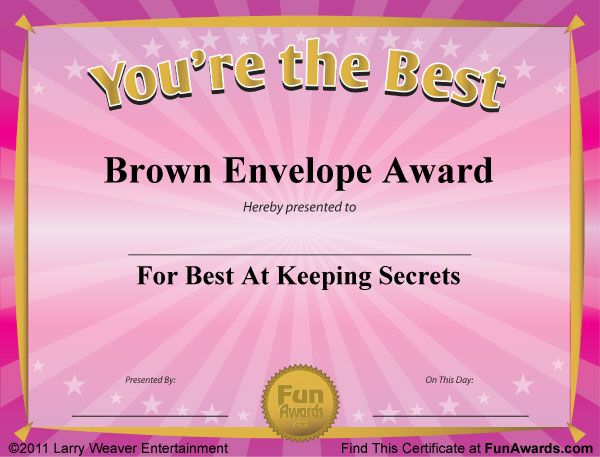 fake-awards.jpg 600×457 pixels | Employee recognition | Pinterest ...