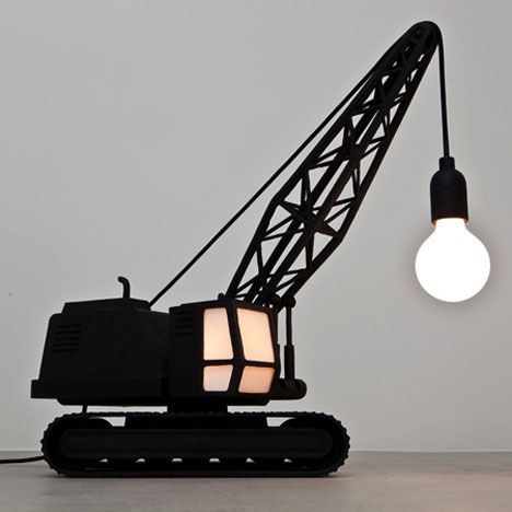 Wrecking Ball Lamp Crane Lamp Creative Lamps Ball Lamps
