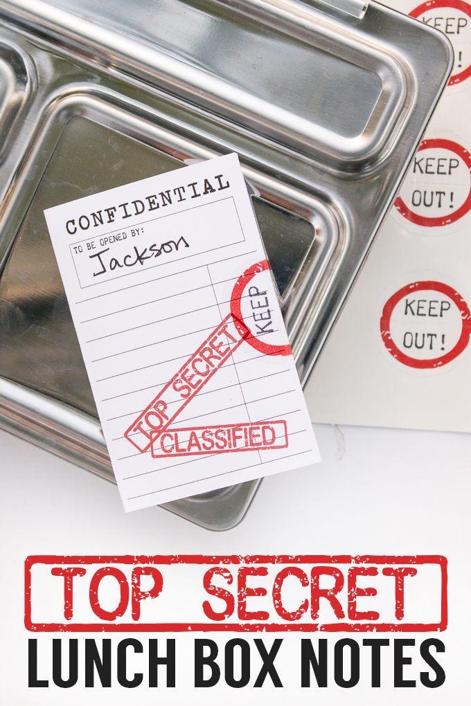 Top Secret Metal Lunch Box