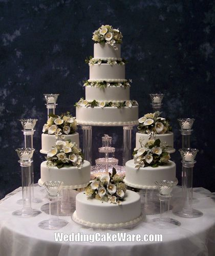 9 Tier Cascading Fountain Wedding Cake Stand Stands Set Cakes