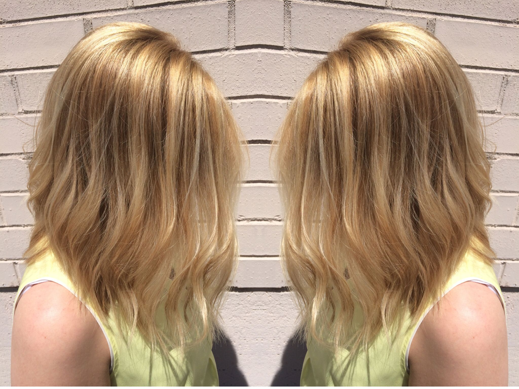 Astounding Haircut Color By Elmira At 444 Salon Angled Long Wavy Bob With Hairstyles For Women Draintrainus