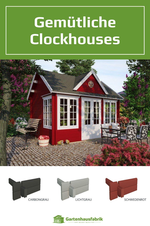 Englisches Clockhouse Zahlreiche Farben Moglich In 2021 Gartenhaus Haus Rustikale Landhauser