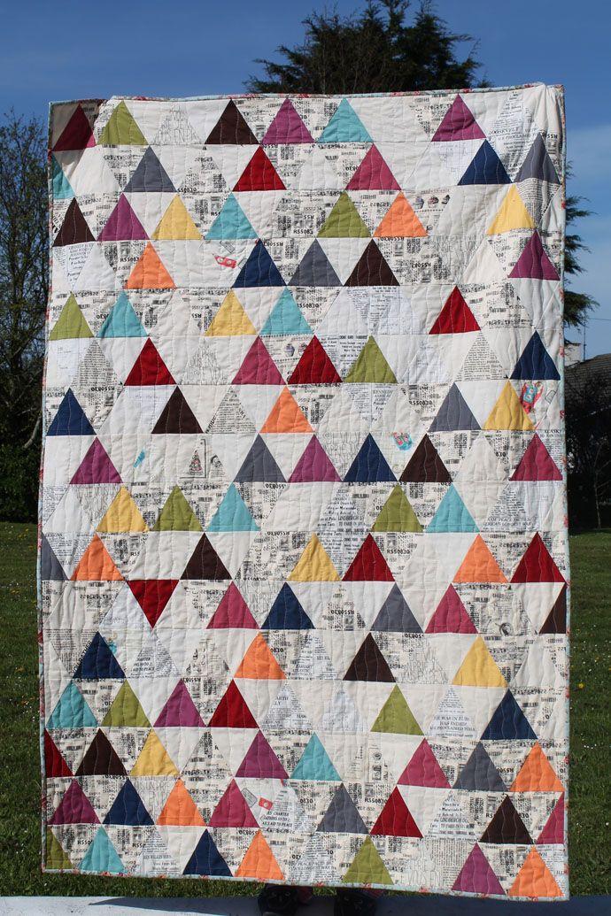 60 degree triangles. Little Island Quilting lage i hvitt øverst og ... : 60 degree triangle quilt - Adamdwight.com