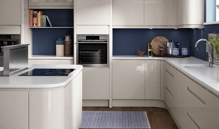 Choosing deep contrasting shades for your walls and floor for Wickes kitchen designs