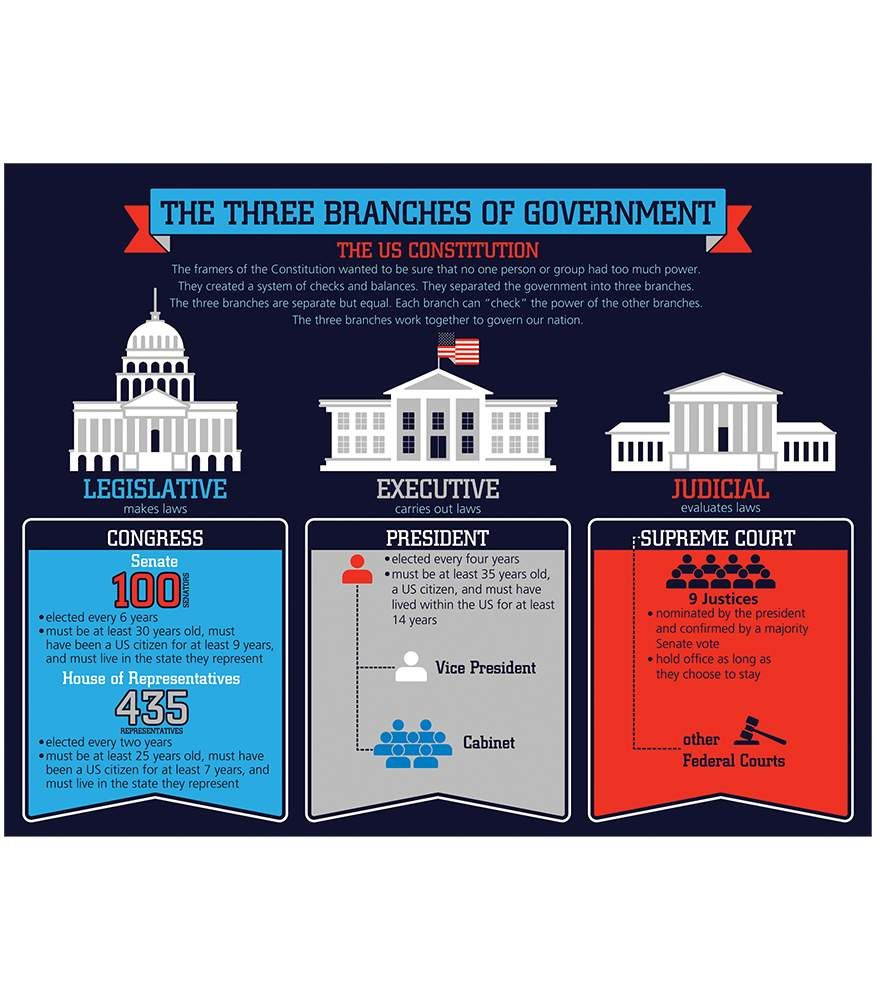 The Three Branches Of Government Chart Illustrates The System Of Checks And Balances In The U S Branches Of Government Teaching Government Government Lessons