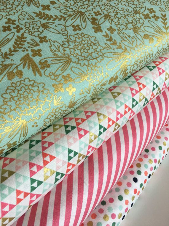 On Trend Fabric Bundle By Riley Blake Includes One Of Each In The