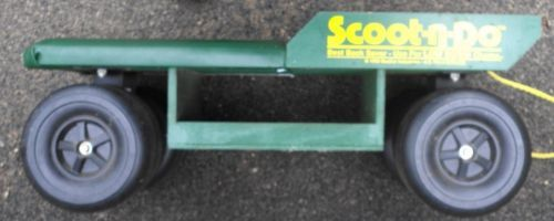 Marvelous 1992 Scoot N Do Rolling Garden Cushioned Seat
