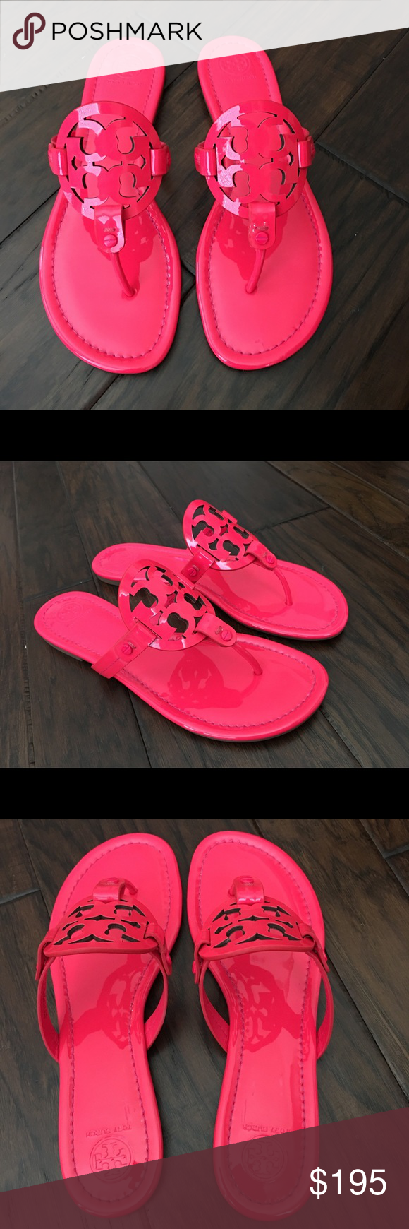 c5b21d96d89cb2 New Tory Burch Miller Fluorescent Fuchsia sandals Brand new with box Tory  Burch Miller patent leather sandals in fluorescent Fuchsia which is a bright  neon ...