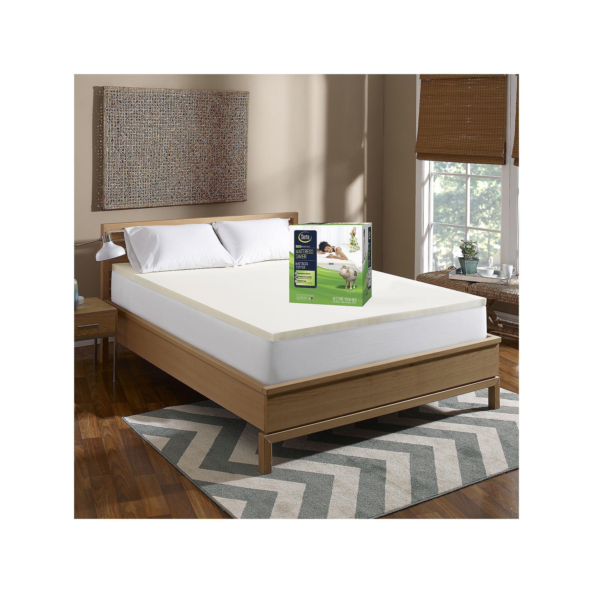 1 5 Inch Memory Foam Mattress Topper Full Size Bed