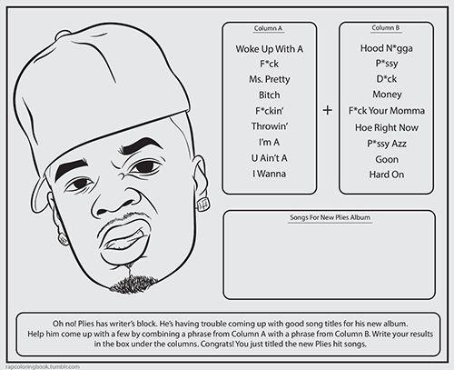 rap coloring book google search bun bcoloring - Bun B Coloring Book