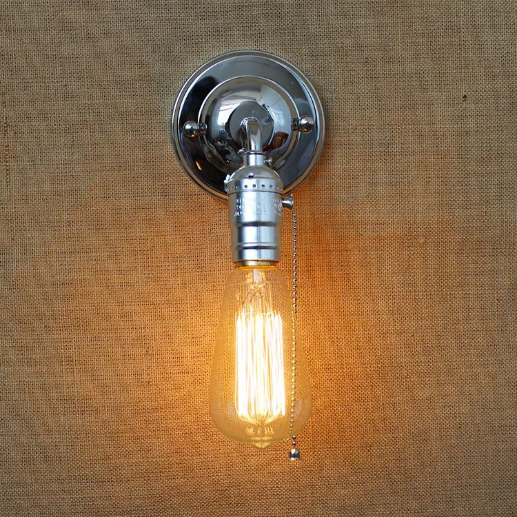 Wall Sconce With Pull Chain Switch Awesome Vintage Iron Wall Lamps With Pull Chain Switch 90V240V E27 Wall Design Decoration