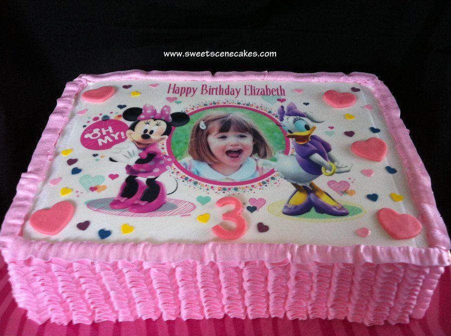 Surprising Minnie And Daisy Birthday Cake With Images Minnie Cake Duck Personalised Birthday Cards Vishlily Jamesorg