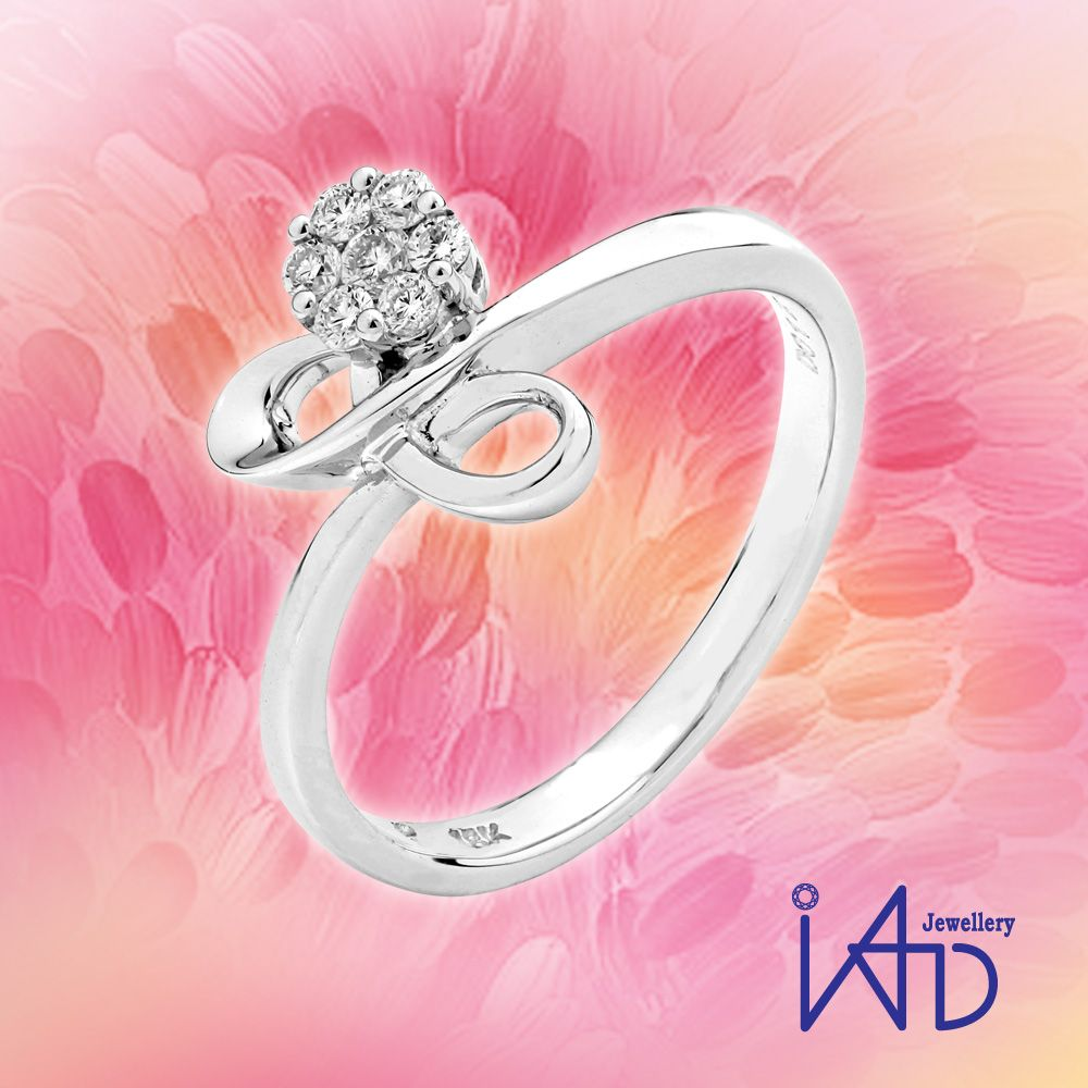 Infinity Kaleido Bow with Cluster Diamond Ring #cluster #heart ...