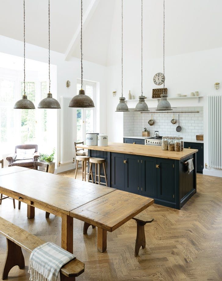 Break Out the Paint: Blue Kitchens Are Tr�s Chic Right Now via @PureWow