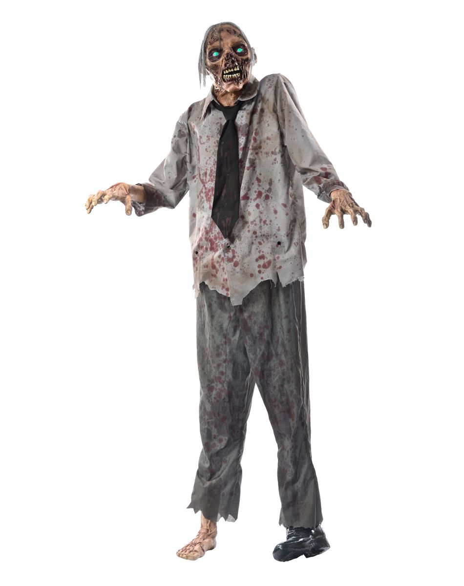 lurching zombie exclusively at spirit halloween give your guests the chills this halloween when you
