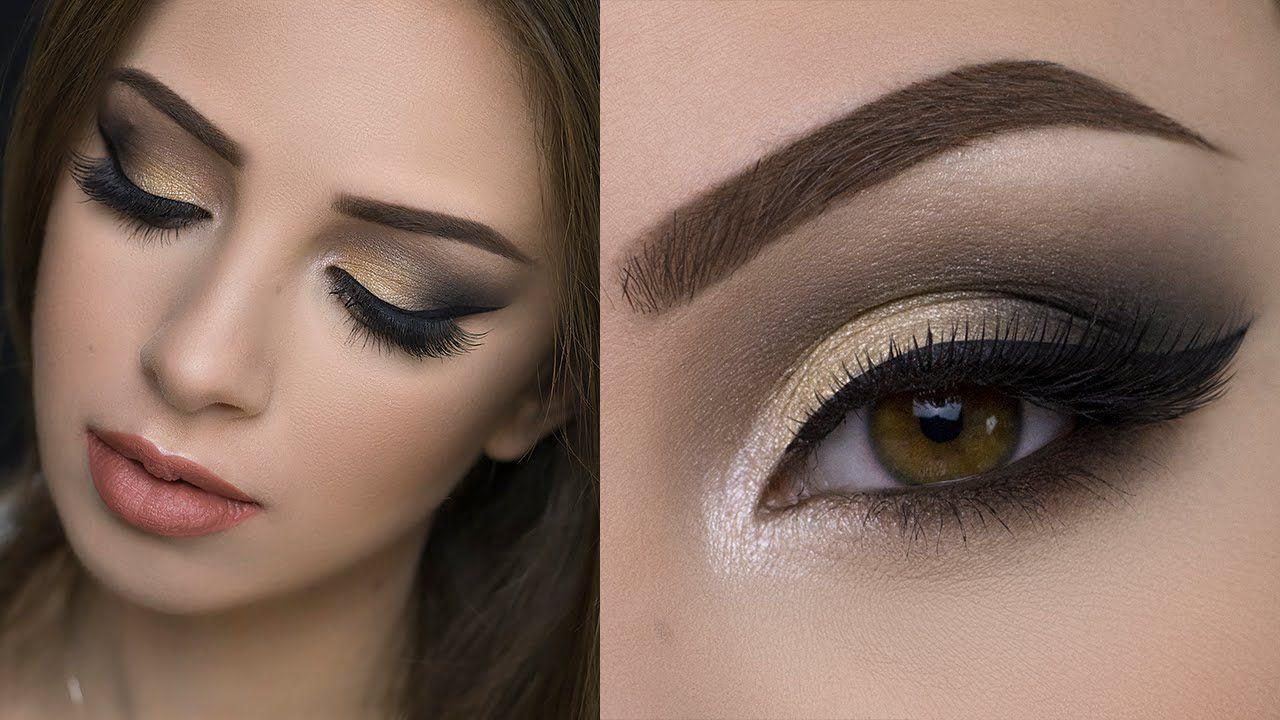 Soft Gold Smokey Eye Tutorial - YouTube   Smokey eye ...