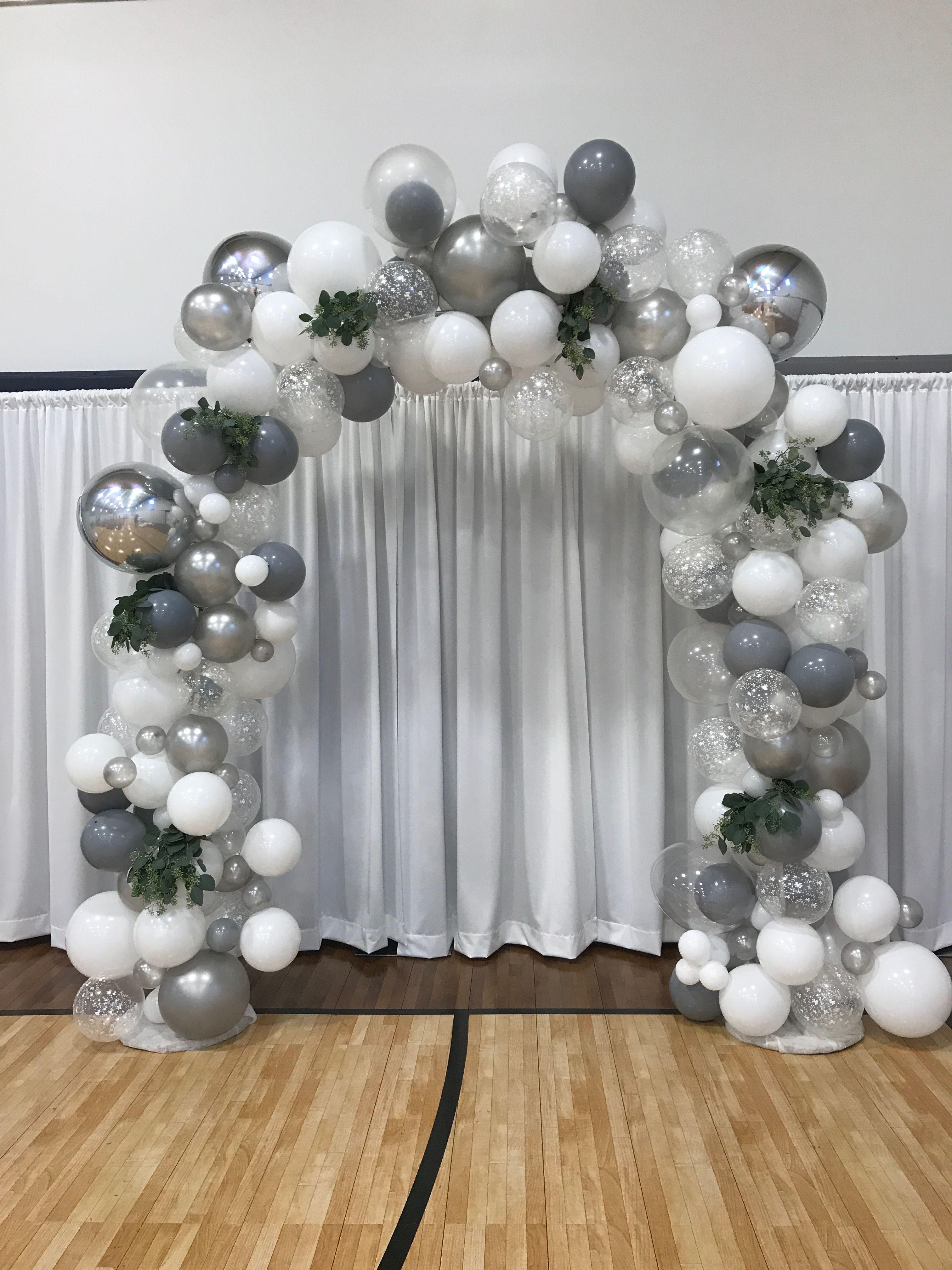 Organic Balloon Arch Wedding Balloons 25th Wedding Anniversary